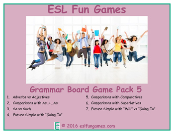 Grammar Board Games Pack 5 Game Bundle