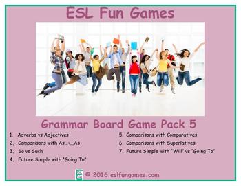 Grammar Board Games Pack 5 Game Bundle