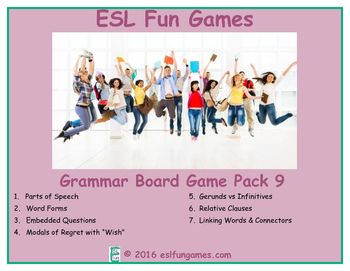 Grammar Board Games Pack 9 Game Bundle