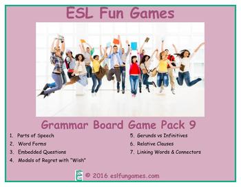 Grammar Board Games Pack 9 Game Bundle