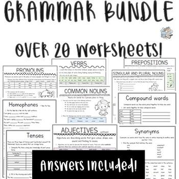 Grammar Booklet Bundle
