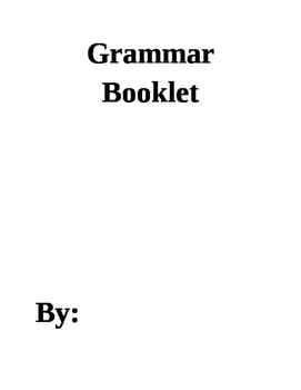 Grammar Booklet and Answer Key For Test Prep, Grammar, and