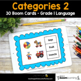 Grammar Boom Cards - Digital Grammar Activities Categories