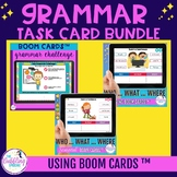 Grammar Boom Cards for Speech Therapy BUNDLE- Distance Learning