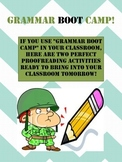 Grammar Boot Camp Activities - Proofreading