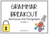 Grammar Breakout - Sentences & Paragraphs
