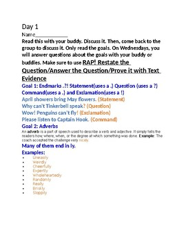 Grammar Buddy Activity /RAP