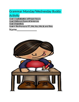 Grammar Buddy Activity with Verbs and Other Goals