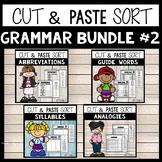 Grammar Worksheets for 2nd Grade Bundle #2 Cut and Paste