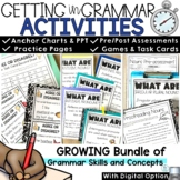 Grammar Bundle for the Year Nouns Pronouns Verbs Adjectives Adverbs
