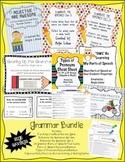 Grammar Galore Bundle: Activities, Handouts, & 24 Task Cards: Over 25% Savings!