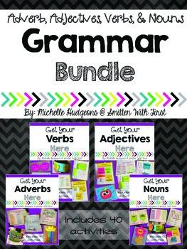 Grammar Bundle (Adjectives, Adverbs, Nouns, and Verbs)