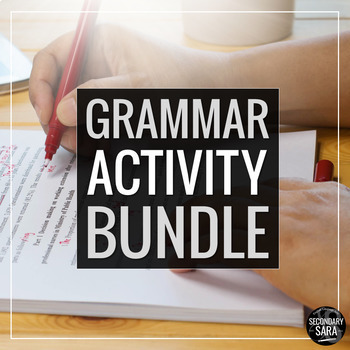 Grammar Projects Bundle: Creative Activities for Secondary ELA