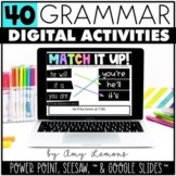 Grammar Bundle: Digital Activities for Seesaw, Google Slid