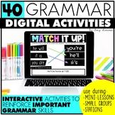 Grammar Bundle: Digital Activities for Seesaw, Google Slides, PowerPoint