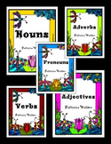 Parts of Speech Worksheet Bundle (Nouns, Pronouns, Adjecti