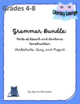 Grammar Bundle:  Parts of Speech and Sentence Structure