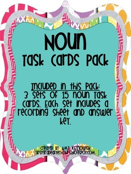 Grammar Bundle Task Card Pack