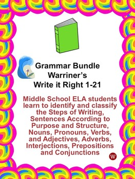 Grammar Bundle: Warriner's Write it Right 1-21