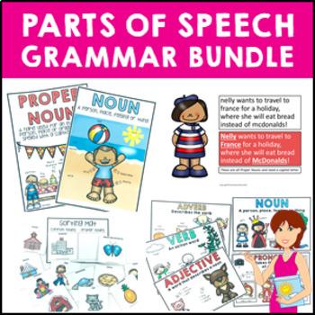 Grammar Bundle Worksheets, Adjectives, Proper and Common N