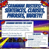 Grammar Busters Bell Ringers: Sentences, Clauses, Phrases,