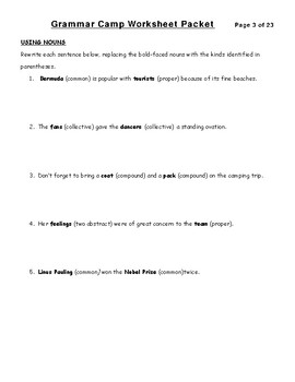 Grammar Camp Packet