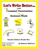 Grade One Grammar & Capitalization