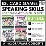 Grammar Card Games Bundle: Wh-Questions, Ice Breakers, Present and Past Tenses