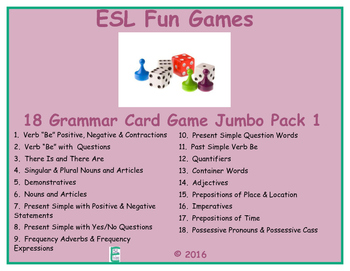 Grammar Card Games Jumbo Pack 1 Game Bundle