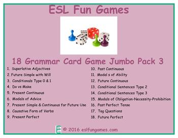Grammar Card Games Jumbo Pack 3 Game Bundle