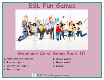 Grammar Card Games Pack 10 Game Bundle