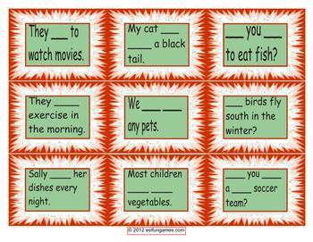 Grammar Card Games Pack 3 Game Bundle