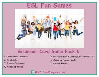 Grammar Card Games Pack 6 Game Bundle
