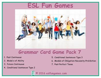 Grammar Card Games Pack 7 Game Bundle