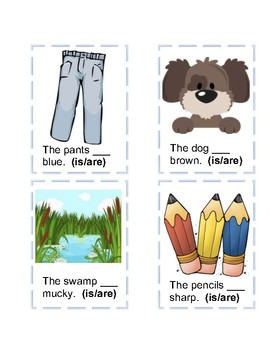 Grammar Cards Is & Are