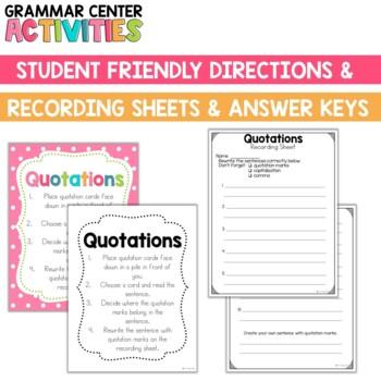 Grammar Center: Quotations
