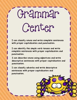 October Grammar Centers