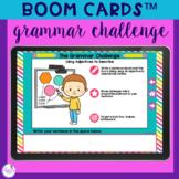 Grammar Challenge BOOM Cards™ - School Theme
