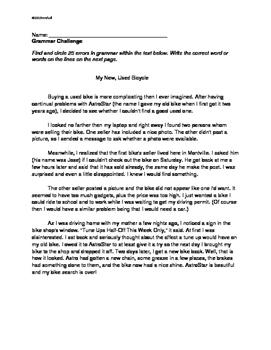 Grammar Challenge and Misused Words Challenge: Grades 6, 7, 8: 2 ELA Worksheets
