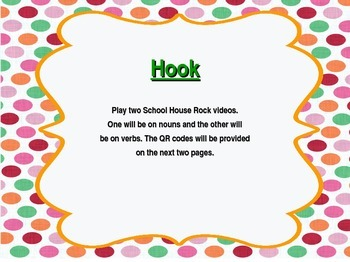 Grammar Charades...A Hook, Book, Look, Took minilesson