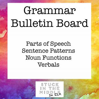 "Grammar ""Cheat"" Bulletin Board"
