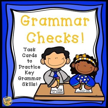Grammar Practice - Task cards to review key Grammar Skills!  Grades 1-4