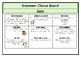 Grammar Choice Board (Adjectives, Nouns & Verbs)