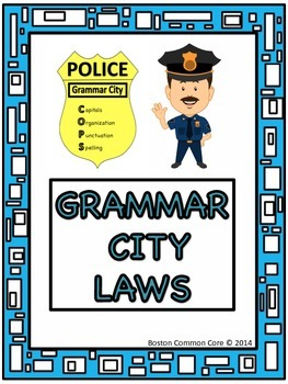 """""""Grammar City"""" Writing, Proofreading and Editing Pack"""