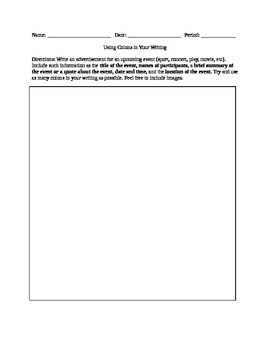Grammar Colon Writing Activity