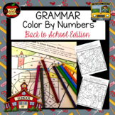 Grammar Color By Number-Back to School Edition