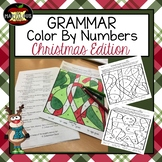 Grammar Color By Number-Christmas Edition