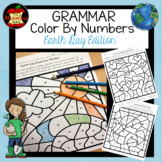 Grammar Color By Number-Earth Day Edition