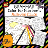Grammar Color By Number-Halloween Edition
