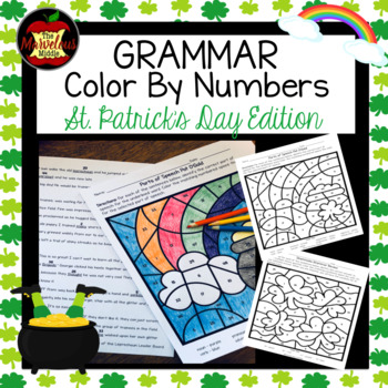 Grammar Color By Number-St. Patrick's Day Edition
